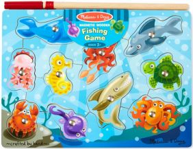MAGNETIC WOODEN FISHING PUZZLE