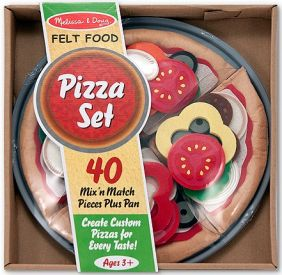 FELT PLAY FOOD PIZZA SET