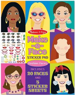 MAKE-A-FACE STICKER PAD-FASHION FACES
