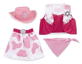 COWGIRL ROLE PLAY DRESS-UP SET