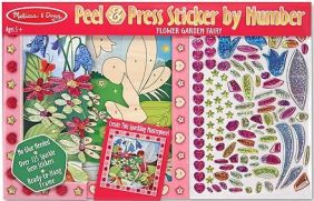 FLOWER GARDEN FAIRY STICKER BY