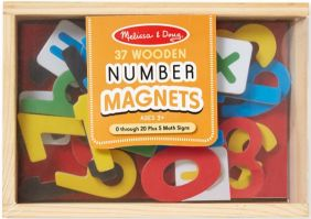 WOODEN NUMBER MAGNETS