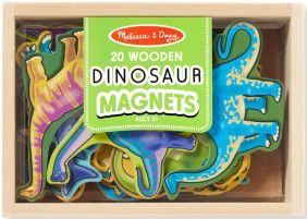 WOODEN DINOSAUR MAGNETS IN BOX