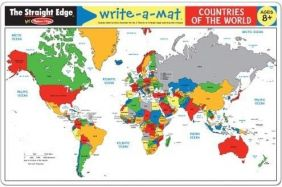 WORLD MAP LEARNING MAT