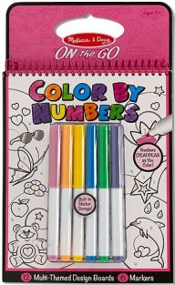 COLOR BY NUMBERS ON-THE-GO PINK