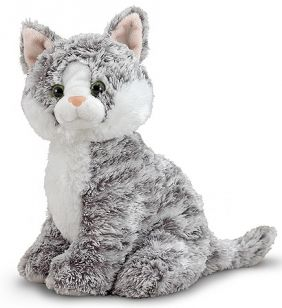 GREYCIE TABBY PLUSH CAT