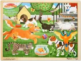 PETS AT PLAY 24-PIECE WOODEN P