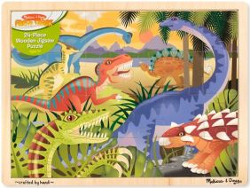DINOSAURS 24-PIECE WOODEN PUZZLE