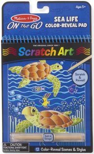 SEA LIFE-SCRATCH ART ON-THE-GO