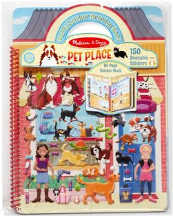 PET PLACE PUFFY STICKER ACTIVITY BOOK