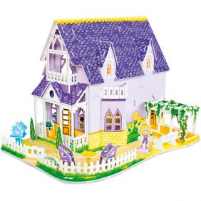 PRETTY PURPLE 3-D PUZZLE DOLLH