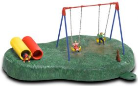 O PLAYGROUND SWINGS OPERATING
