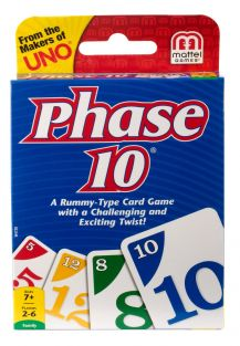 PHASE 10 CARD GAME #W4729 BY M