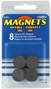 "3/4""DIA X .1875"" THICK MAGNETS"