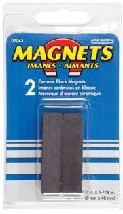 CERAMIC BLOCK MAGNETS (2-PACK)