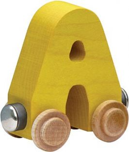 WOODEN ALPHABET TRAIN-LETTER A