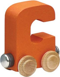 WOODEN ALPHABET TRAIN-LETTER C