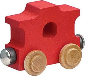 WOODEN ALPHABET TRAIN-RED CABOOSE