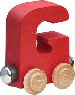 WOODEN ALPHABET TRAIN-LETTER G