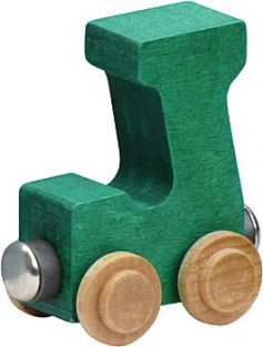 WOODEN ALPHABET TRAIN-LETTER J