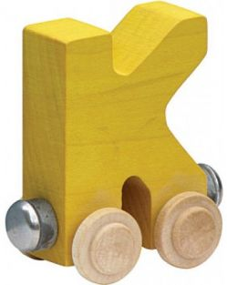 WOODEN ALPHABET TRAIN-LETTER K
