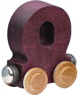 WOODEN ALPHABET TRAIN-LETTER O