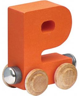 WOODEN ALPHABET TRAIN-LETTER P