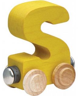 WOODEN ALPHABET TRAIN-LETTER S