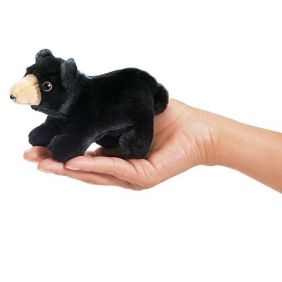 MINI BLACK BEAR FINGER PUPPET