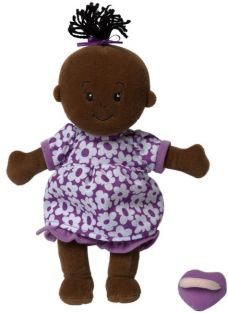 WEE BABY STELLA DOLL-BROWN W/BLACK HAIR