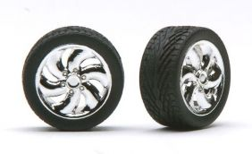 1/24 CYCLONE CHROME RIMS WITH