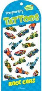 RACE CARS TEMPORARY TATTOOS