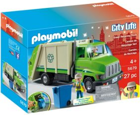 GREEN RECYCLING TRUCK-CITY