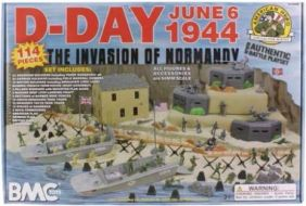 54MM D-DAY DIORAMA SET BOXED #
