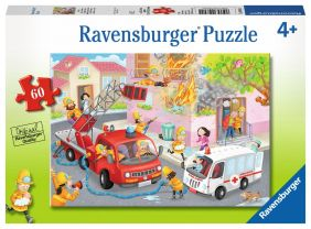FIREFIGHTER RESCUE 60-PC PUZZLE