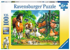 ANIMALS GET TOGETHER 100-PC