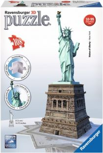 STATUE OF LIBERTY 108-PIECE 3D 15""