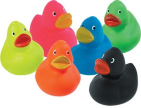 RUBBER DUCKIES-MULTI COLORS