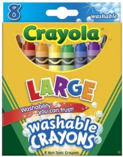 CRAYOLA LARGE WASHABLE CRAYONS 8-PACK #523280