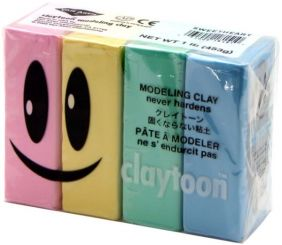 CLAYTOON MODELING CLAY SET- PASTEL COLORS 1LB.