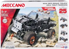 MECCANO 4X4 OFF-ROAD TRUCK 25 MODEL CONSTRUCTION SET #6028599