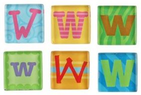 (SALE) MAGNETIC LETTER W