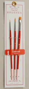 3-PIECE TAKLON BRUSH SET #55 B