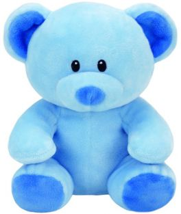 LULLABY-BLUE TEDDY BEAR 8""