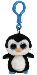 WADDLES PENGUIN-B/BOOS K/CHAIN