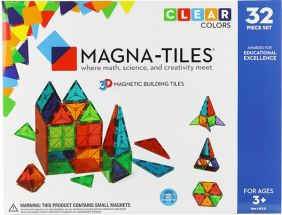 MAGNA-TILES CLEAR COLORS 32-PC