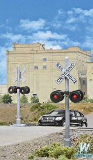 WALTHERS HO SCALE CROSSING FLASHERS 2PK