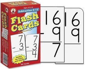 SUBTRACTION 0-12 FLASHCARDS