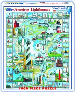 AMERICAN LIGHTHOUSES 1000-PIEC
