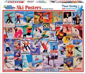 SKI POSTERS COLLAGE 1000-PIECE
